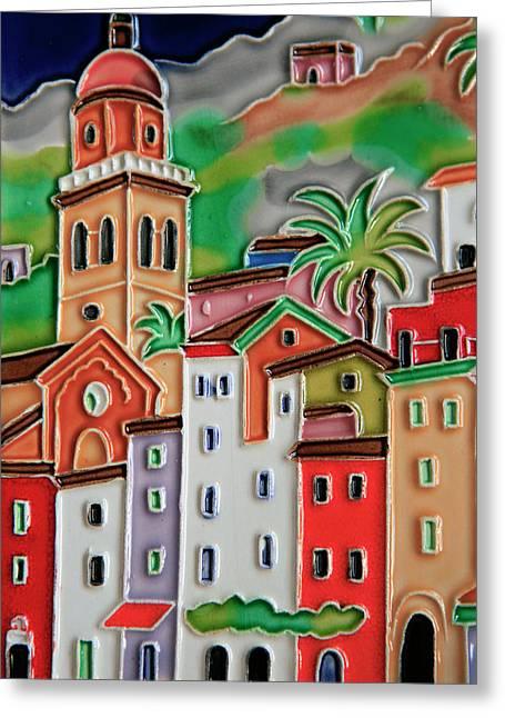 Europe, Italy Italian Hand-painted Greeting Card by Kymri Wilt