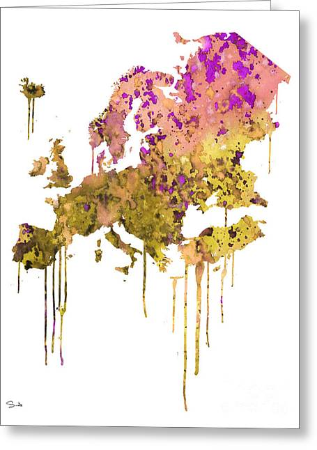 Watercolor! Art Greeting Cards - Europe Greeting Card by Luke and Slavi
