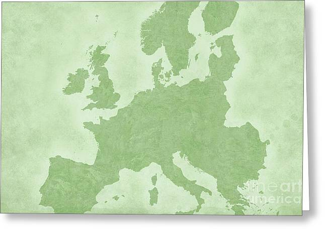 Geographic Location Greeting Cards - Europe Greeting Card by Tina M Wenger