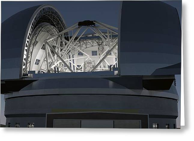 Telescope Domes Greeting Cards - European Extremely Large Telescope Greeting Card by Science Photo Library