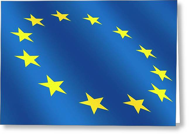 European Flag Greeting Card by Detlev Van Ravenswaay