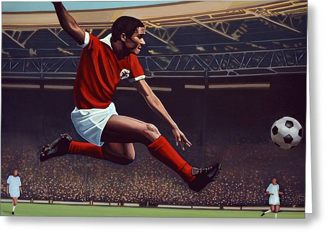 Realism Greeting Cards - Eusebio Greeting Card by Paul Meijering