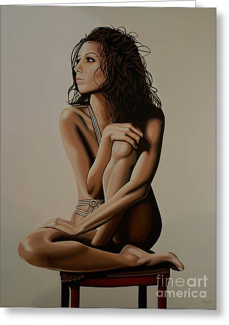 Precious Paintings Greeting Cards - Eva Longoria Greeting Card by Paul Meijering