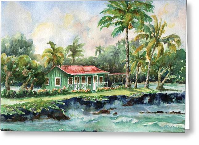 Sea Scape Greeting Cards - Eva Parker Woods Cottage Greeting Card by Lisa Bunge