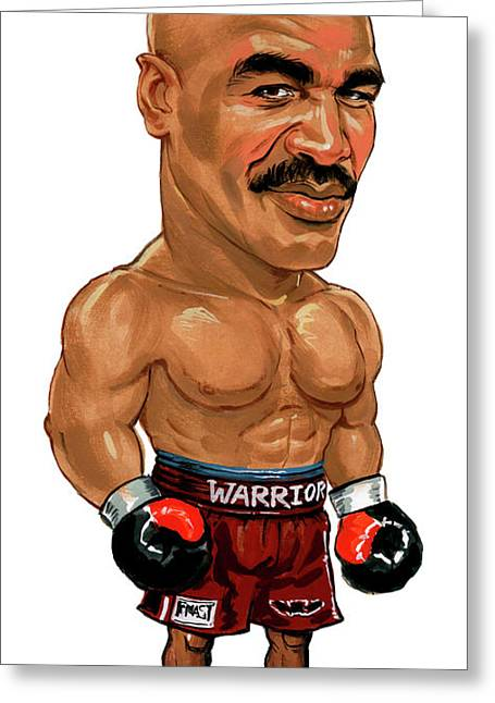 Super Real Greeting Cards - Evander Holyfield Greeting Card by Art