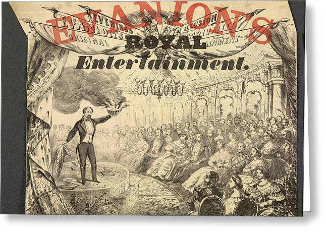 Evanion's Royal Entertainment Greeting Card by British Library