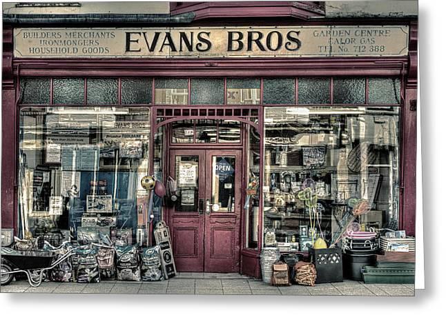 Hardware Shop Greeting Cards - Evans Bros Hardware Emporium Greeting Card by Mal Bray