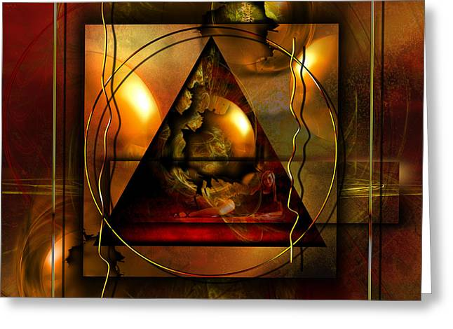Forgiveness Digital Art Greeting Cards - Evas guilt and Adams love Greeting Card by Franziskus Pfleghart
