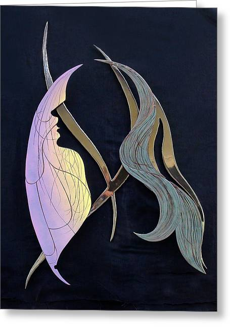 Wall-hanging Glass Greeting Cards - Eve Greeting Card by Dan Redmon