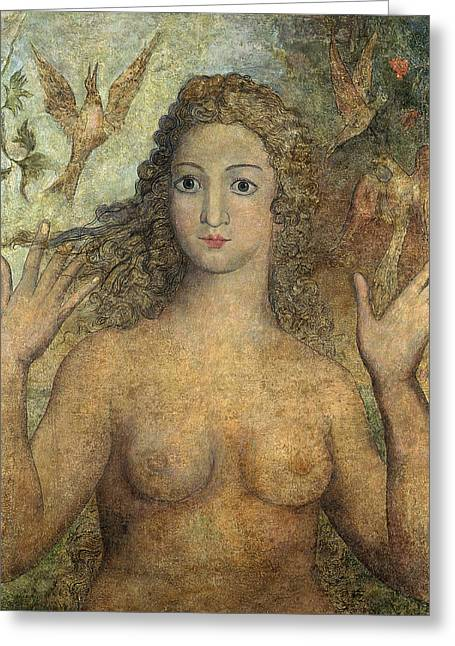 William Drawings Greeting Cards - Eve Naming The Birds Greeting Card by William Blake
