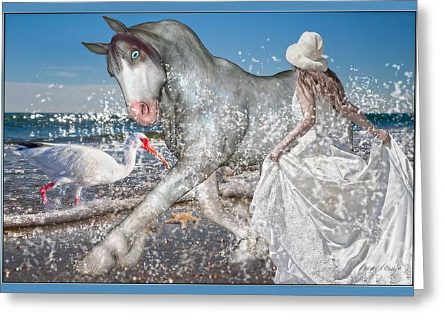 Trot Greeting Cards - Eve of the Horse Greeting Card by Betsy C  Knapp