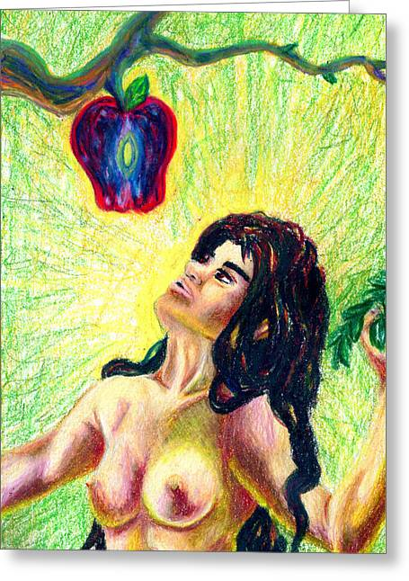 Forbidden Fruit Greeting Cards - Eve Greeting Card by Kd Neeley