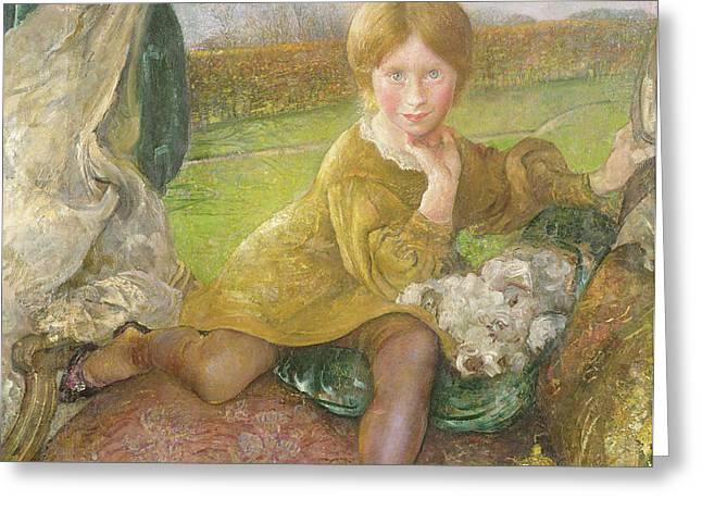 Evelyn Greeting Card by Annie Louisa Swynnerton