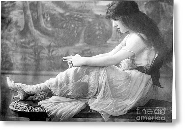 Evelyn Nesbit, American Model Greeting Card by Science Source