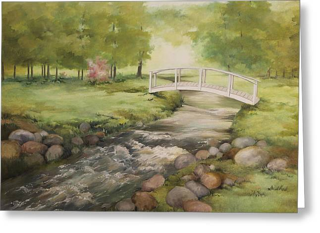 Evelyns creek Greeting Card by Becky West