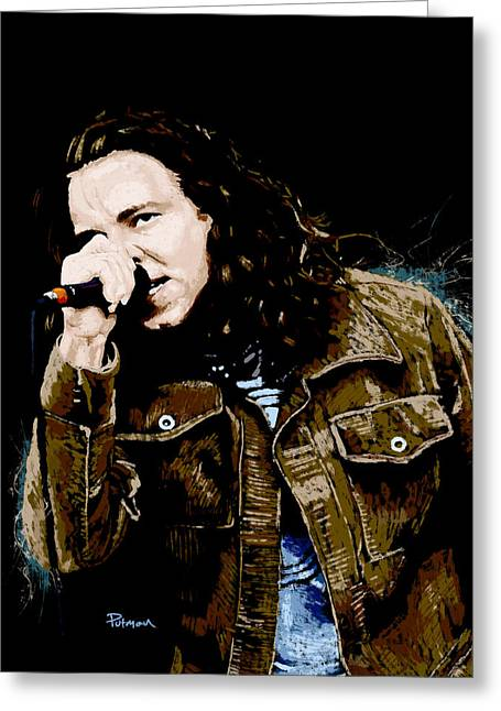 Pearl Jam Greeting Cards - Even Flow Greeting Card by Kevin Putman