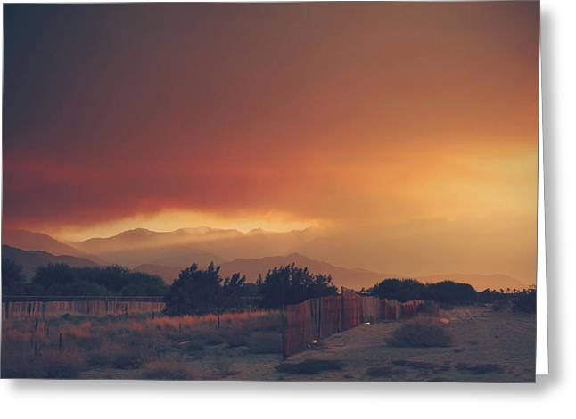 Wildfires Greeting Cards - Even Now Greeting Card by Laurie Search