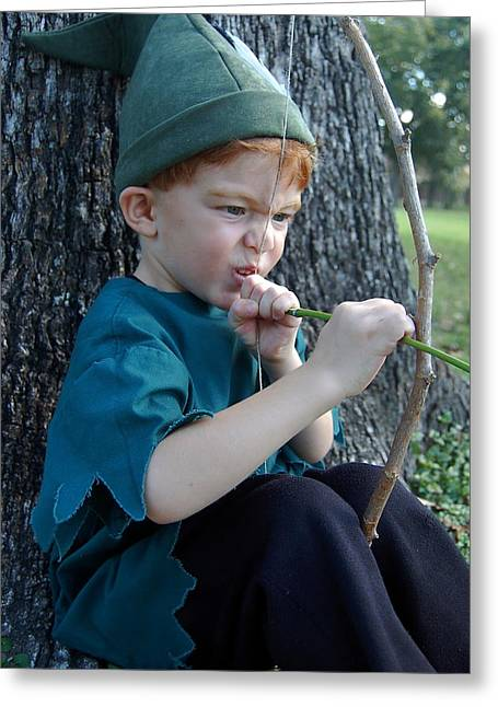 Robin Hood Hat Greeting Cards - Even Robin Hood Gets Frustrated Greeting Card by Tamyra Crossley