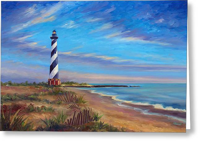 Cape Hatteras Greeting Cards - Evening at Cape Hatteras Greeting Card by Jeff Pittman