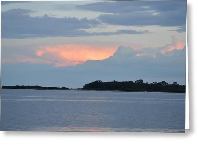 Cedar Key Greeting Cards - Evening at Cedar Key Florida Greeting Card by RoyD Erickson