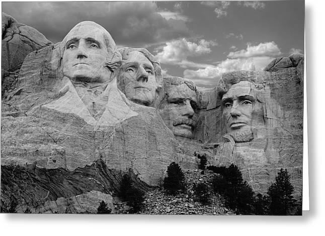 Rushmore Photographs Greeting Cards - Evening at Mt. Rushmore  Greeting Card by Merja Waters