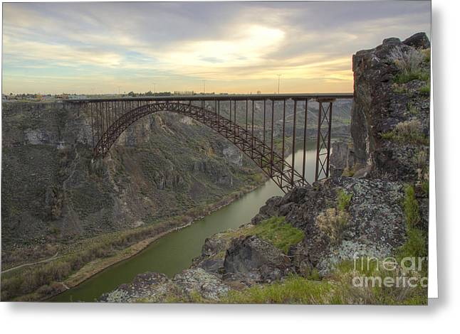 Idaho Photographs Greeting Cards - Evening at Perrine Greeting Card by Idaho Scenic Images Linda Lantzy