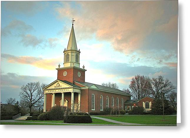 Bucknell Greeting Cards - Evening at Rooke Greeting Card by Ronald Fleischer