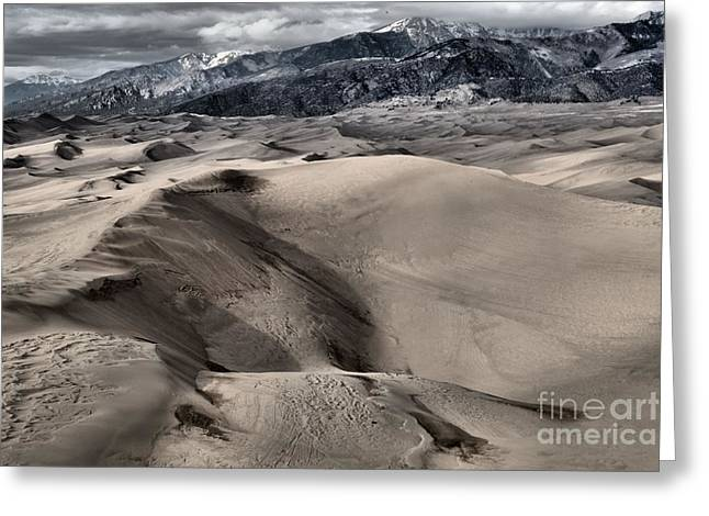 Colorado Sand Dunes Greeting Cards - Evening At The Dunes Greeting Card by Adam Jewell