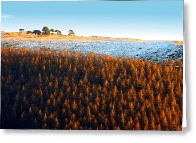 Snowy Evening Greeting Cards - Evening At The Horseshoe Pass 2 Greeting Card by Brainwave Pictures