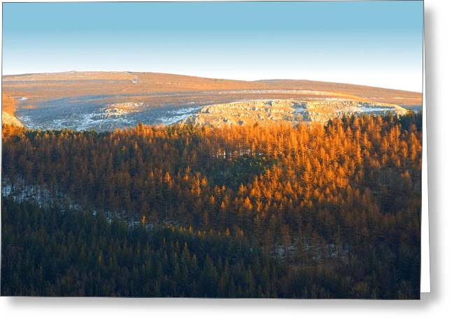 Evening At The Horseshoe Pass 3 Greeting Card by Brainwave Pictures