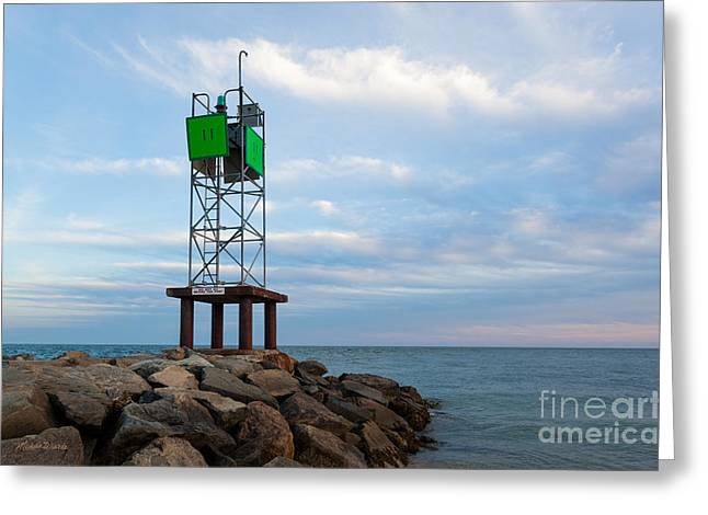 Oceans 11 Greeting Cards - Evening at the Jetty Greeting Card by Michelle Wiarda