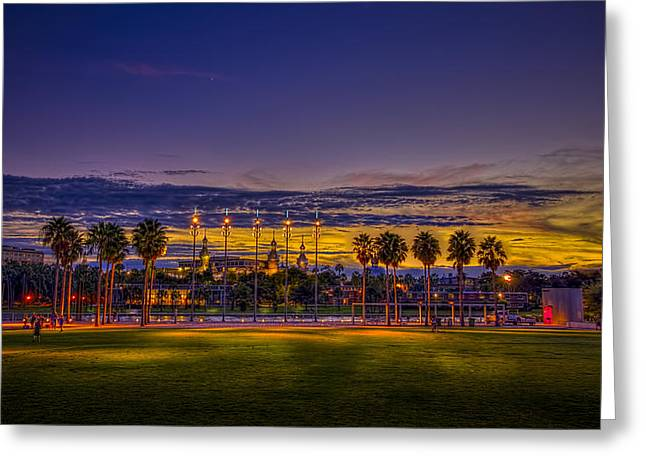 University Of Tampa Greeting Cards - Evening at the Park Greeting Card by Marvin Spates