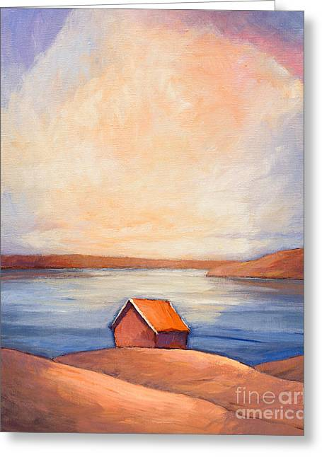 Evening Lights Greeting Cards - Evening at the Sea Greeting Card by Lutz Baar