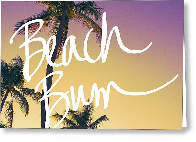 Evening Beach Bum Greeting Card by Emily Navas