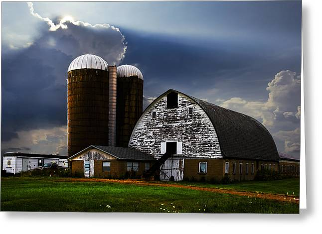 Tennessee Barn Greeting Cards - Evening Blessing Greeting Card by Debra and Dave Vanderlaan