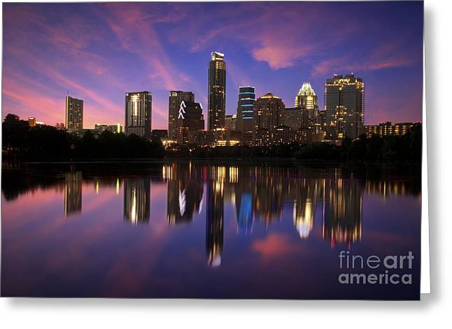 Randy Greeting Cards - Evening Blue Austin Greeting Card by Randy Smith