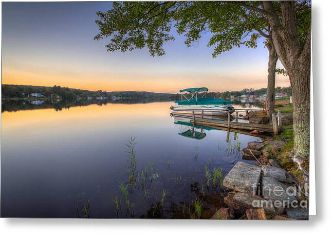 New England Village Photographs Greeting Cards - Evening Calm Greeting Card by Evelina Kremsdorf
