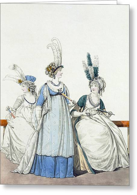 Fan Drawings Greeting Cards - Evening Dresses For The Opera Greeting Card by Nicolaus von Heideloff
