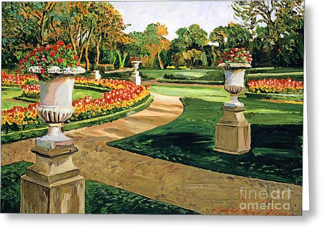 Featured Art Greeting Cards - Evening Garden Greeting Card by David Lloyd Glover