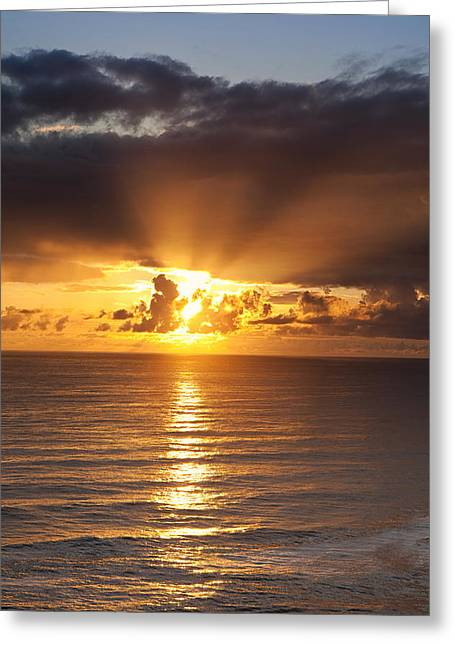 Sunset. Greeting Cards - Evening Glow Greeting Card by Andrew Soundarajan