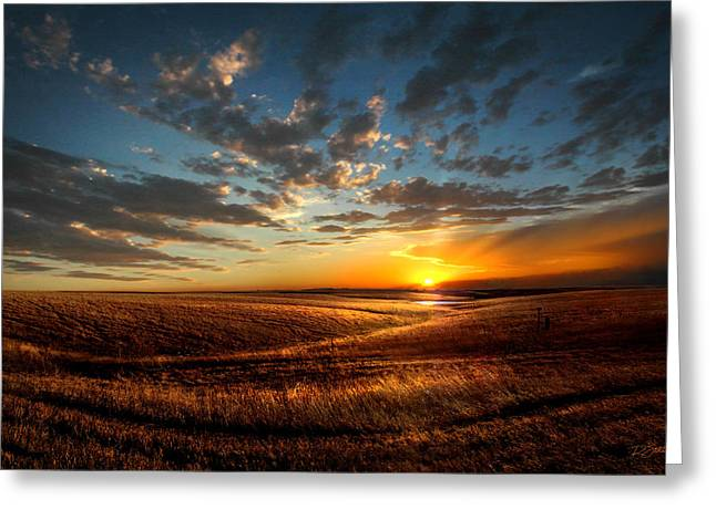 Top Seller Greeting Cards - Evening Glow in Chase County Greeting Card by Rod Seel