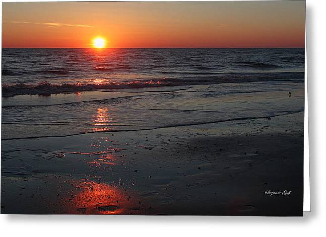 Sunset Posters Greeting Cards - Evening Glow Greeting Card by Suzanne Gaff