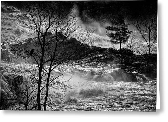 Dreamscape Art Greeting Cards - Evening Great Falls Maine Greeting Card by Bob Orsillo