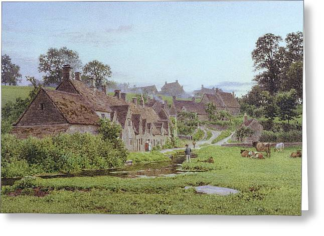 Cottages In England Greeting Cards - Evening in Arlington Row Greeting Card by Newton Bennett