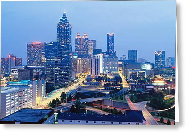 Evening In Atlanta, Atlanta, Georgia Greeting Card by Panoramic Images