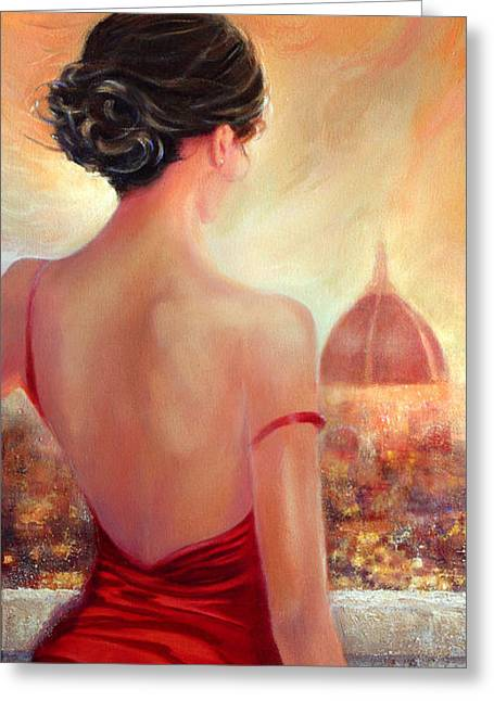 Elegant Updos Greeting Cards - Evening in Florence Greeting Card by Michael Rock