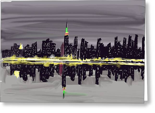 Fdr Drive Greeting Cards - Evening in NYC Greeting Card by Jerry Shafer