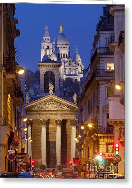 Evening In Paris Greeting Card by Brian Jannsen