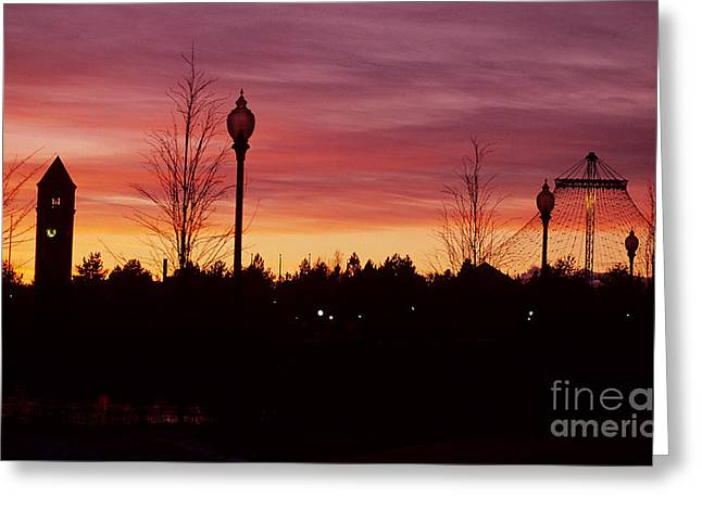 Spokane Greeting Cards - Evening in Riverfront Park Greeting Card by Sharon Elliott