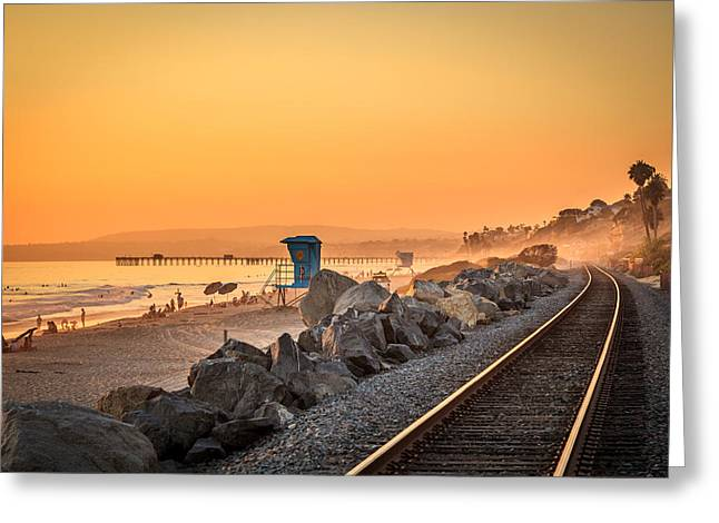Recently Sold -  - Clemente Greeting Cards - Evening in San Clemente Greeting Card by Steve Skinner